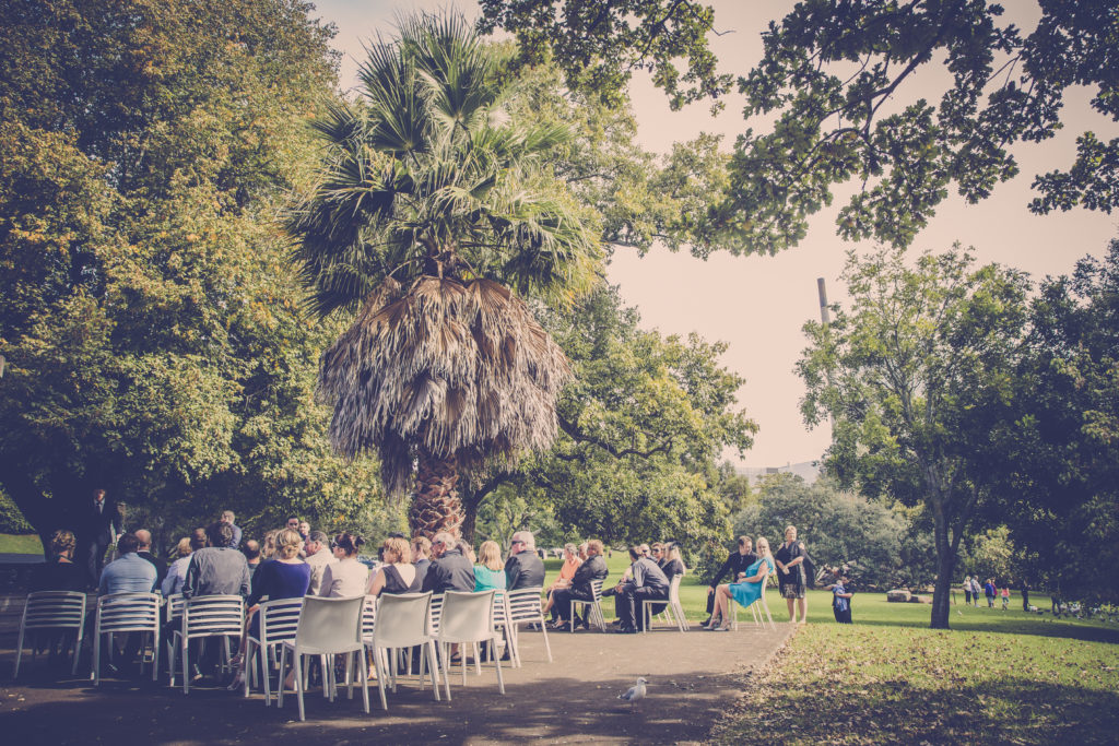 Wintergarden Pavilion Wedding, Outdoor Ceremony
