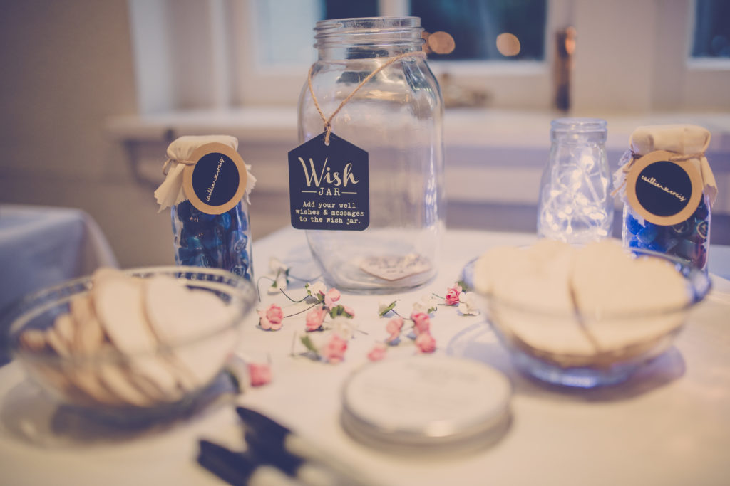 Wintergarden Pavilion Wedding, Wish Jar