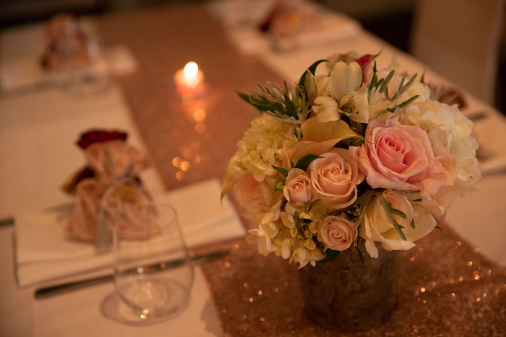 Wintergarden Pavilion Wedding, Table Centrepiece